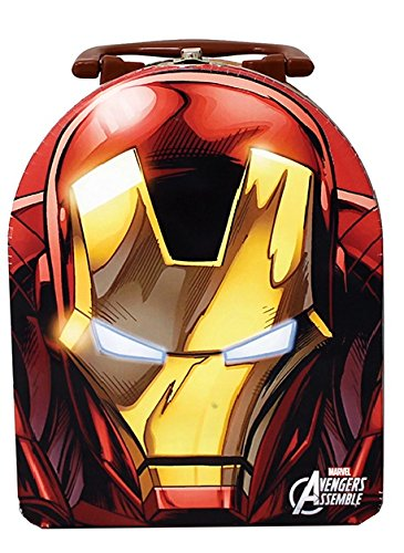 Marvel Avengers Iron Man - Tin Arch Carry All - The Tin Lunch (Ironman Lunch Box)