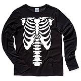 Hank Player U.S.A. Skeleton Long Sleeve T-Shirt (6, Vintage Black)