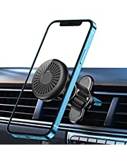 """TEUMI Car Phone Holder, 360° Rotation Hands Free Air Vent Magnetic Car Phone Mount, 6 Strong Magnets & Upgraded Clip Phone Holder Car Compatible with iPhone, Samsung and All Phones Between 4-11"""""""