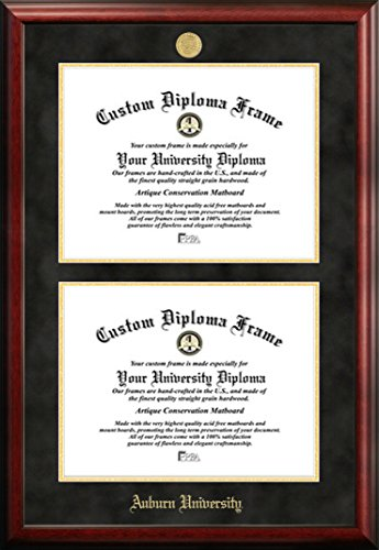 Auburn University Double Degree Diploma Frame (13 X 17) by Diploma Frame Deals