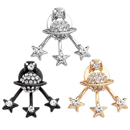 Top Plaza Pentagram Rhinestone Earring