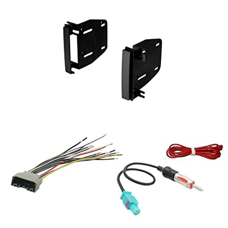 amazon com: scosche cr1291b double din install dash kit for select 07-up  chrysler/dodge/jeep: car electronics