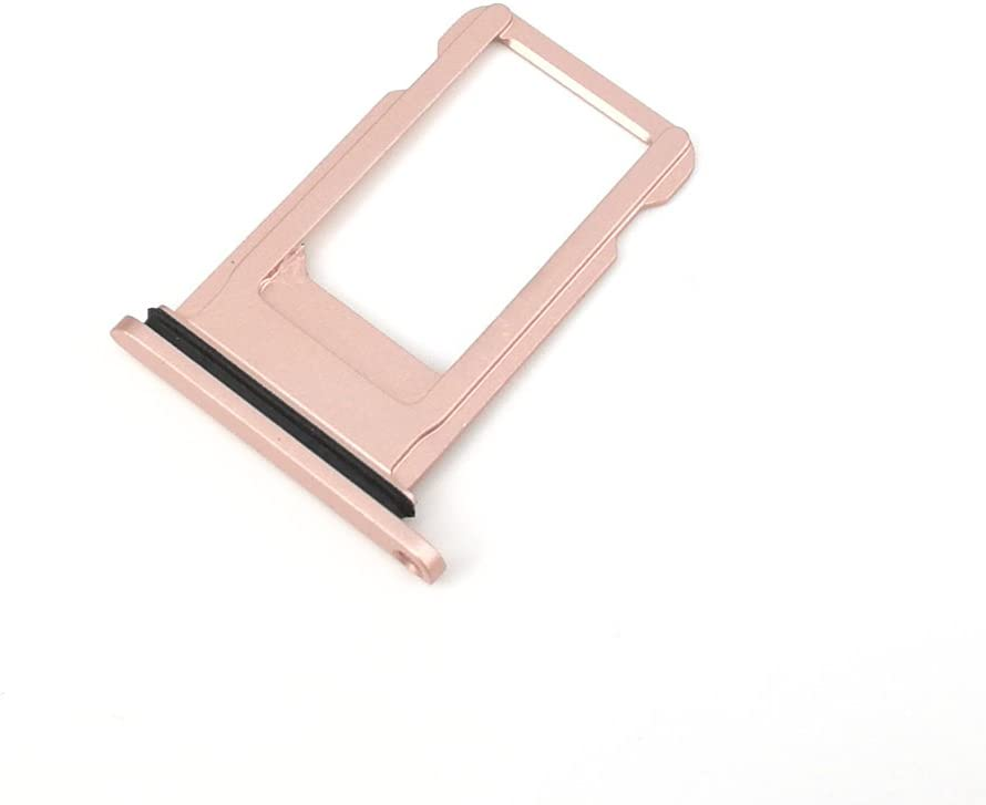 E-repair SIM Card Tray Holder with Rubber Waterproof Ring Replacement for iPhone 8 Plus (5.5 inch) (Rose Gold)