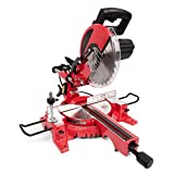 "General International General Intl MS3005 10"" 15A Sliding Miter Saw, Red, Black & Gray"