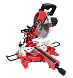 General International MS3005 10' 15A Sliding Miter Saw, Red, Black & Gray