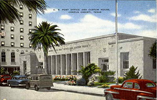 U. S. Post Office And Custom House Corpus Christi, Texas Original Vintage - Christi S
