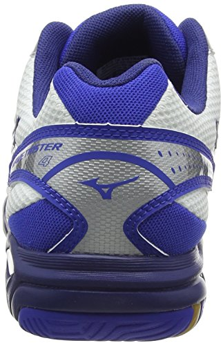 Mizuno Wave Twister 4, Zapatillas Hombre Blanco (White/Dazzling Blue/Twilight Blue)