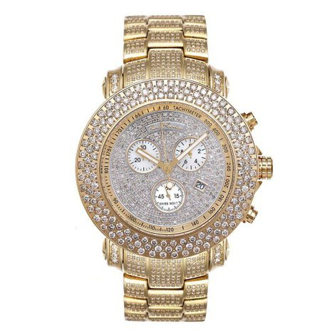 Joe Rodeo JJU39 Junior Diamond Watch, Diamond Dial with Gold Paved Band
