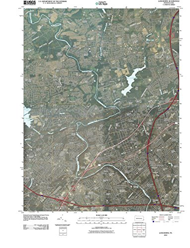 Pennsylvania Maps | 2010 Langhorne, PA USGS Historical Topographic Map |Fine Art Cartography Reproduction - Map Langhorne Pa