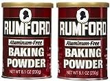 Rumford Aluminum Free Baking Powder, Canisters, 8.1 oz, 2 pk
