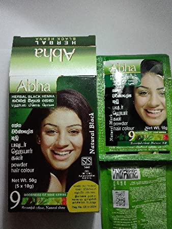 1b495aa479659 Amazon.com : Godrej Abha Herbal Black Henna younger look for all unisex(10g  X 5) : Beauty
