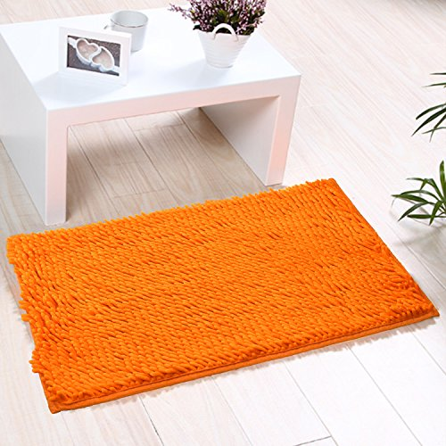 (Indoor Doormat Non-slip & Water-absorbent Chenille Microfiber Floor Bath Mat Carpet Entrance Rug for Bedroom,Sitting Room and Bathroom 15.7