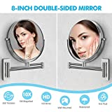 MIRRORMORE Mirror Wall Mount, 10X Magnifying Mirror