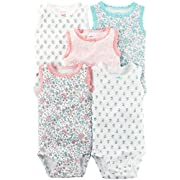 Carter's Baby Girls' Multi-Pk Bodysuits 126g603, Assorted, Newborn