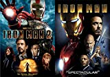 Marvel Studios Tony Stark Iron-Man DVD Double Feature Part 1 & 2 Movie Pack Super Hero Set