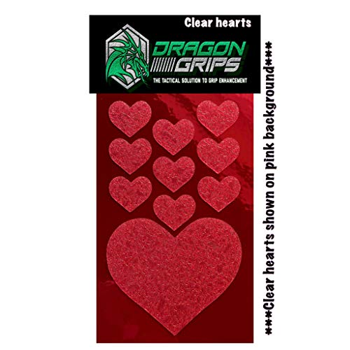 Grip Tape Heart Sticker Clear Non Slip Decals for Phone Cases, Phones, Computers, 10 Pieces