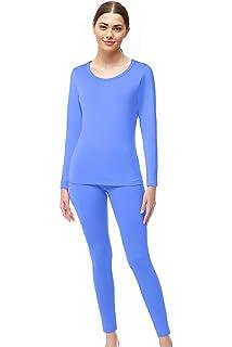 Womens Thermal Underwear Cotton Long Underwear Long John Womens Base Layer Set S~XL