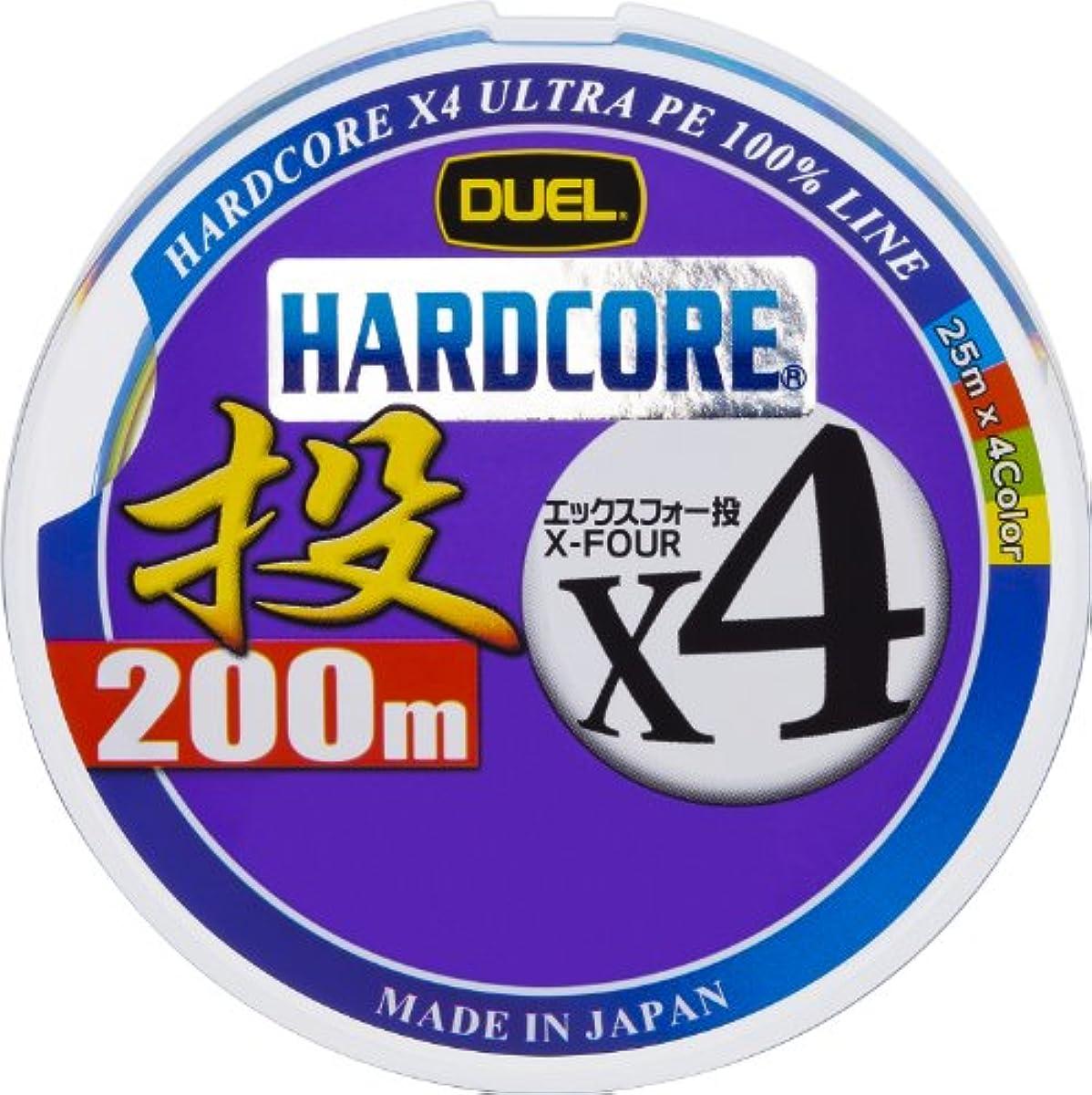 [해외] 듀엘 PE라인 하드 코어 X4 밀어던지기 200M