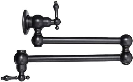1 QYCP-Robinet Mitigeur d/évier360 degr/és de rotation mur mont/é en laiton pliant robinet de cuisine simple /évier robinet remplisseur robinet bec verseur robinets deau froide de salle de bains