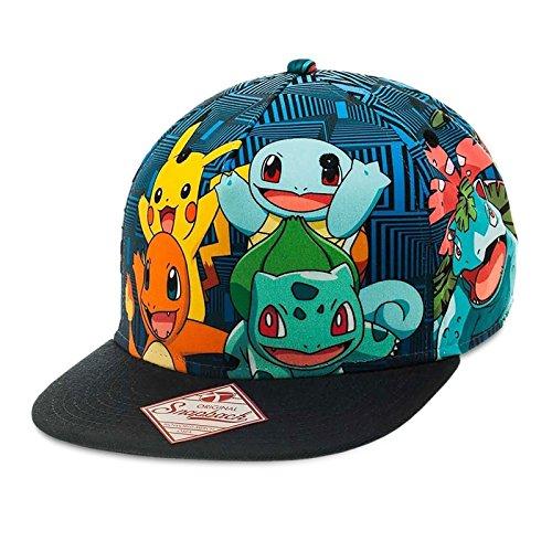 Pokemon-Charmander-Snapback-Cap-Baseball-Cap-Black
