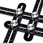 Multi Angle Measuring Ruler,ROTEK Aluminum Alloy Metal Layout Template Tool,Angle Measurement Tools with Carrying Pouch,Gift for Handymen,Builders,Craftsmen,Wood DIY,Carpenters,Tilers