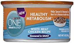 PURINA O.N.E. 178661 24-Pack One Smartblend Healthy Metabolism Weight Meat Chicken Food, 3-Ounce