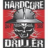 """3 - 2"""" Hardcore Driller Hard Hat Helmet Sticker H778"""