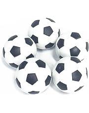 PEIUJIN 5 Stück Tischfußball Kickerbälle, Kicker Bälle aus ABS hart und schnell, Durchmesser 31mm, Schwarz Weiß (Typ A 5 Pcs)