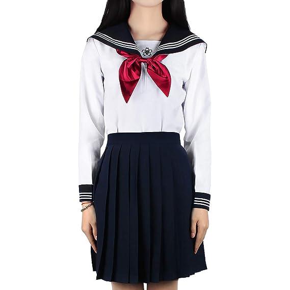 Andux Zone Vestido de Uniforme Escolar Uniforme Escolar japonés ...