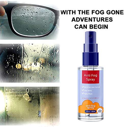 LA GUAPA Brillen Antibeschlag-Spray 60ml Antibeschlagmittel- Hilft gegen Beschlagene Brille -Auto-Innenraum, Windschutzscheibe, Antibeschlag, Defogger Linsen (1pc-60ml)