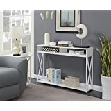 Convenience Concepts 161889WFW Tucson Console Table, White