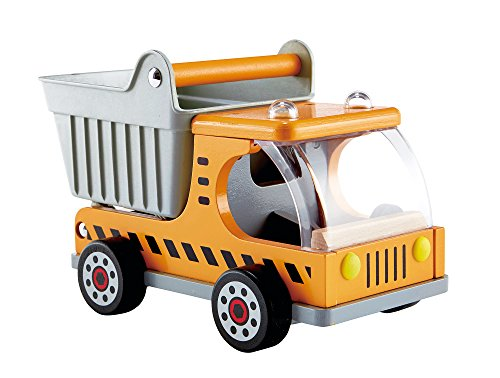 - Hape Dump Truck Kid's Wooden Construction Toys Vehicle