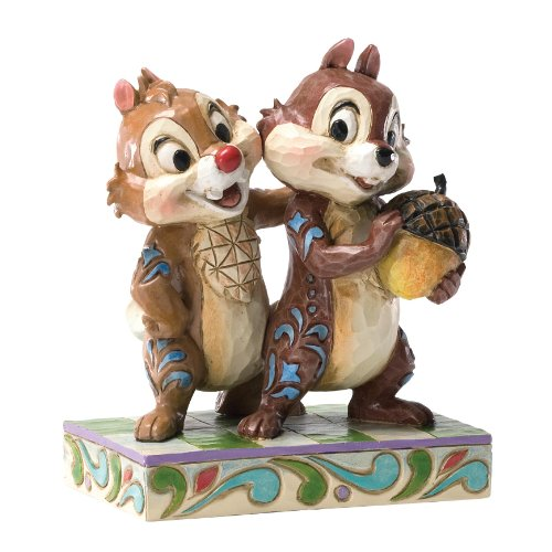 Chip Dale Christmas - Enesco Disney Traditions by Jim Shore Chip and Dale Figurine, 4.5-Inch