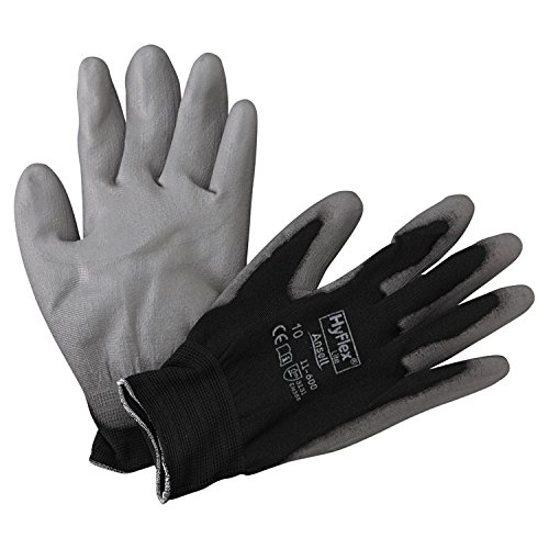 Ansell 11-600-10-BK HyFlex Lite Gloves, Size 10, Black/Gray (Pack of 12)