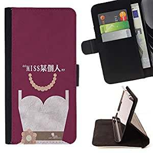 King Case - FOR HTC One M9 - miss you so much - Prima caja de la PU billetera de cuero con ranuras para tarjetas, efectivo Compartimiento desmontable y correa para la mu?eca