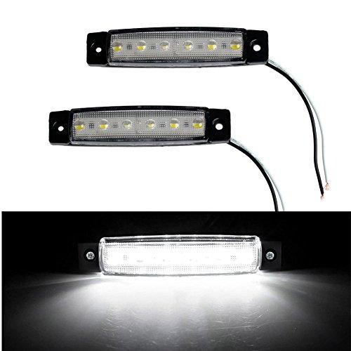 qingqingR 2X 6-LED Bus Van Boat Truck Trailer Side Marker Tail Light Lamp Yellow//Amber 12V