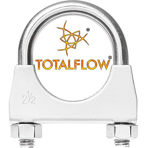 "TOTALFLOW Natural Finish 2.5"" TF-U250 304 Stainless Steel Saddle U-Bolt"