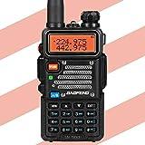 Baofeng X Radioddity UV-5RX3 Tri-Band Radio VHF, 1.25M, UHF Amateur Handheld ham Two Way Radio Walkie Talkie with Earpiece and Charger