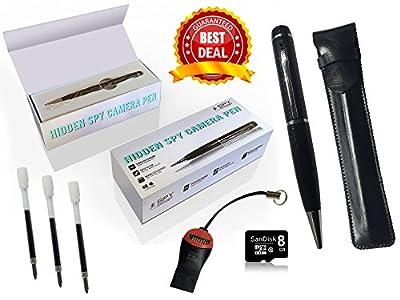 SpyGear-Spy Gadget® Hidden Camera, Spy Camera Pen & 720p HD Video Camera Recorder DVR - Record in 1280x720 HD Video Resolution - 8GB SD Card Included - Spy-Gadget