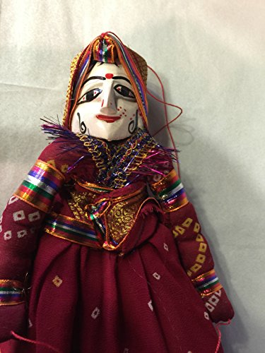 Indian Kathputli Handcrafted Marionette Puppets, Wooden Rag Dolls, Wedding Theme