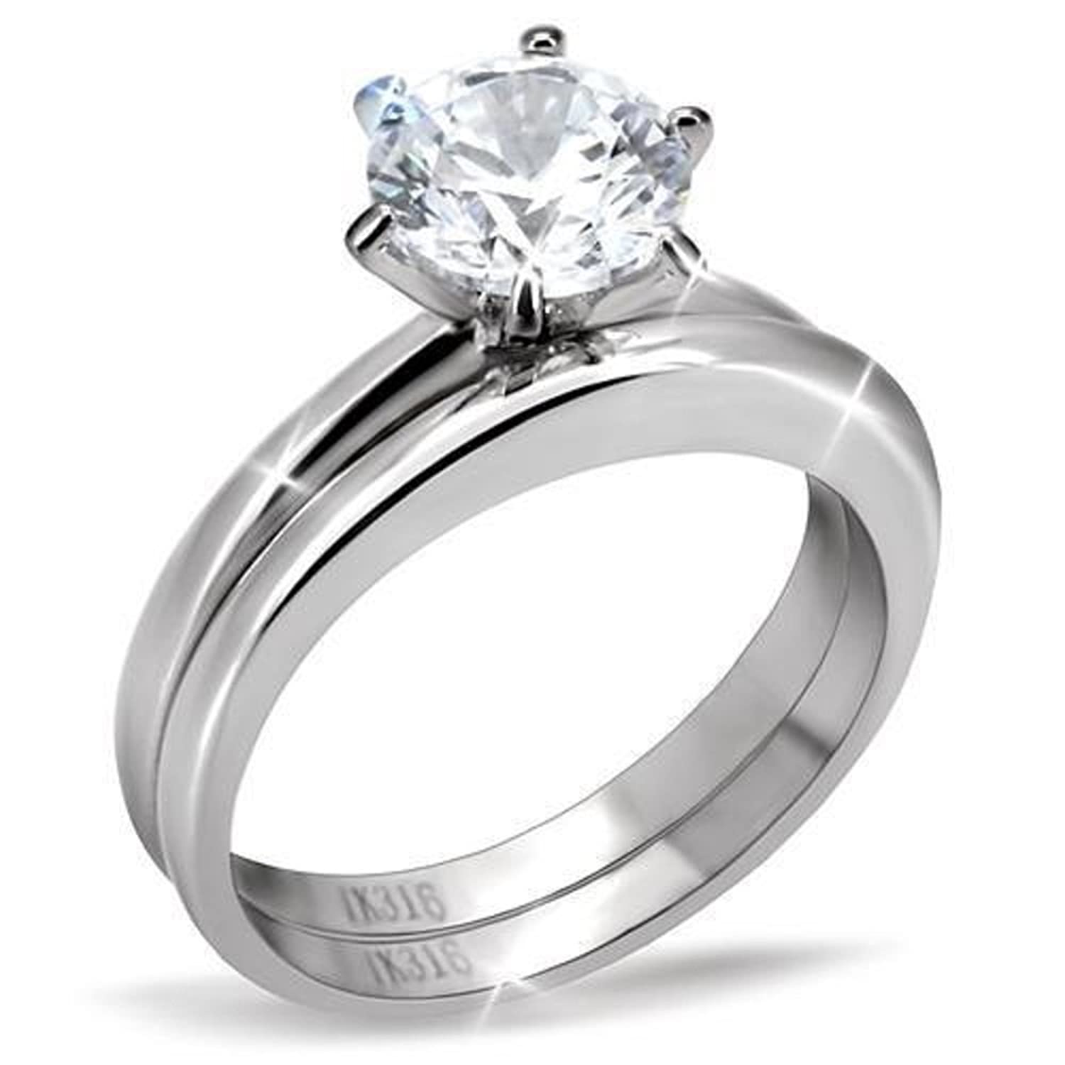 setting band engagement rings claw plain diamond ring with