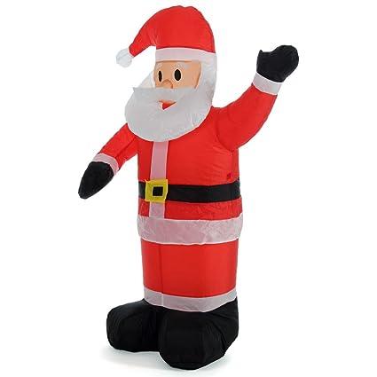 Decorazioni Natalizie Gonfiabili.Bakaji Babbo Natale Gonfiabile Verticale Autogonfiabile Grande