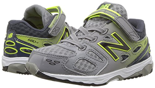 New Balance Boys' 680 V3 Running Shoe, Grey/Hi-Lite, 12 W US Little Kid Photo #7