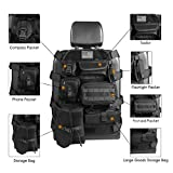Seat Cover Case fit Jeep Wrangler Unlimited CJ YJ Cherokee Rubicon Ford F150 Ridgeline Seat Protector with Multiple Pockets Heavy Duty Seat Back Car Organizer Storage Muti Pocket Holder (Black)