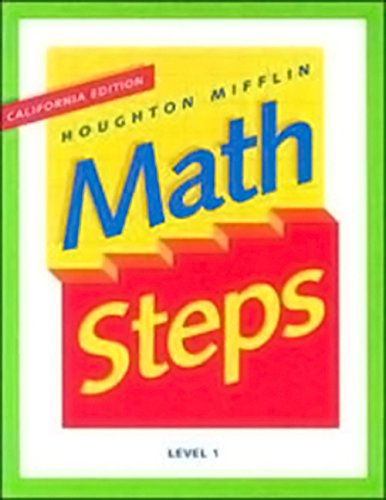 Houghton Mifflin Math Steps: Student Edition Level 1 2000