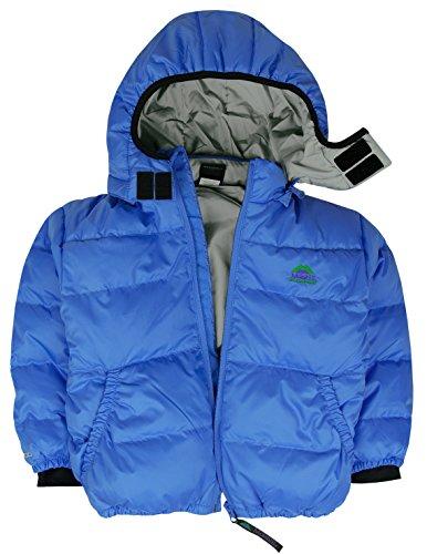 Molehill Kids Down Hooded Jacket (700 Down Fill), Azure, 3T ()