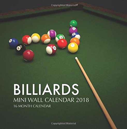 Download Billiards Mini Wall Calendar 2018: 16 Month Calendar pdf epub