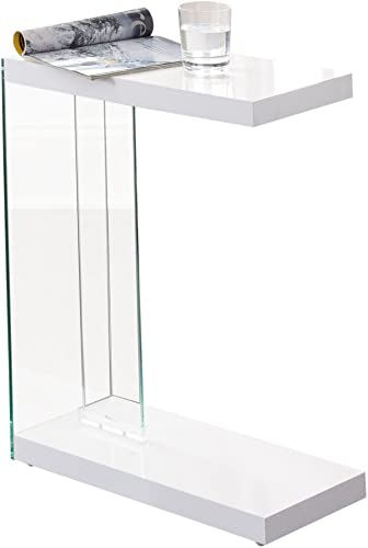 Steve Silver Elaina Chairside End Table in White