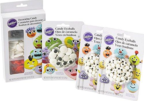 Wilton Sweet Personalities Edible Decorations Set (Eyeball Cupcakes Halloween)