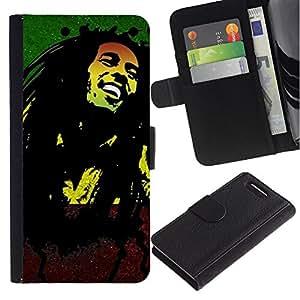 Stuss Case / Funda Carcasa PU de Cuero - Jamaica Reggae Music Rasta Weed - Sony Xperia Z3 Compact